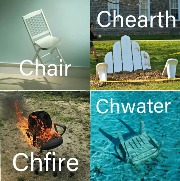 Chair - Chearth Chair Chwater Chfire