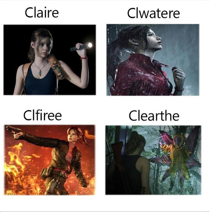 Human - Claire Clwatere Clfiree Clearthe PANS DEVNR