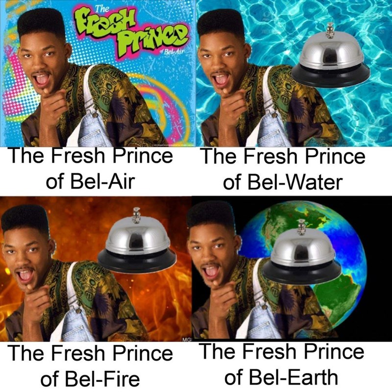 The TWEN 320 Bel-Air Y20 The Fresh Prince The Fresh Prince of Bel-Air of Bel-Water MG The Fresh Prince The Fresh Prince of Bel-Fire of Bel-Earth