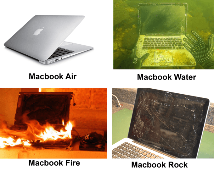 Laptop - Macbook Air Macbook Water Мacbook Fire Macbook Rock