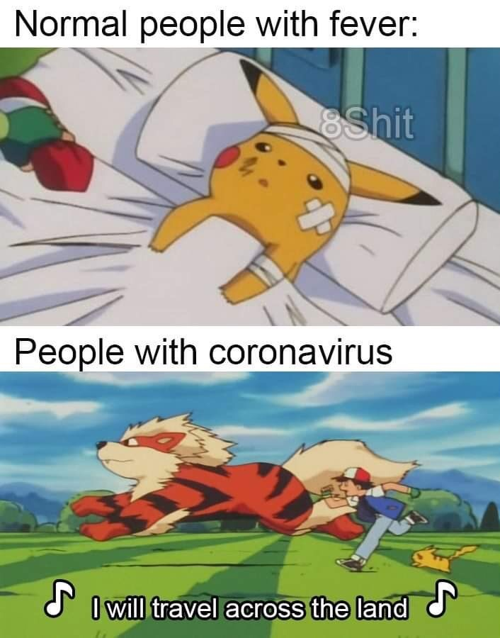 Cartoon - Normal people with fever: 8Shit People with coronavirus N O will travel across the land
