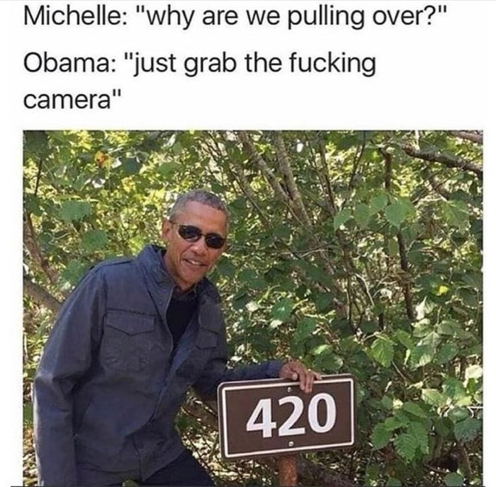 "Adaptation - Michelle: ""why are we pulling over?"" Obama: ""just grab the fucking camera"" 420"