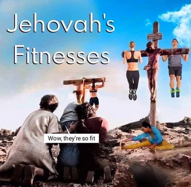 Album cover - Jehovah's Fitnesses Wow, they're so fit