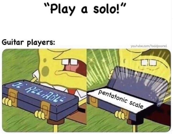 """Cartoon - """"Play a solo!"""" youtube.com/toddpaorel Guitar players: youtube.com/toddpoore pentatonic scale"""