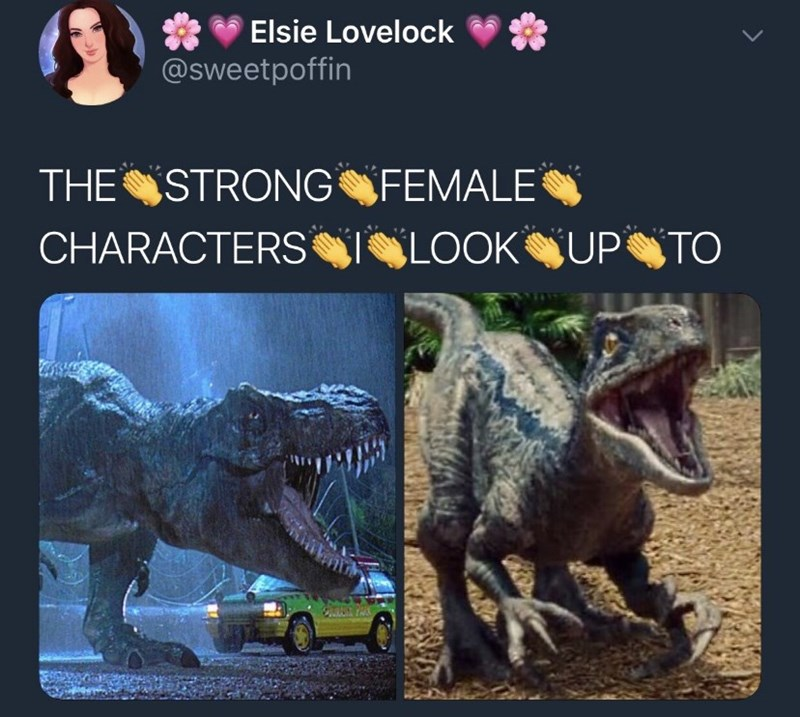Dinosaur - Elsie Lovelock @sweetpoffin THE STRONGFEMALE CHARACTERS ILOOKUPTO