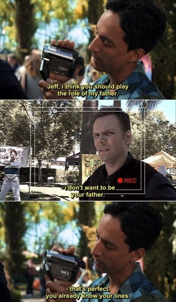 Movie - Jeff, i think you should play the role of my father. te i Sign REC don't want to be. your father. - that's perfect. you already know your lines.