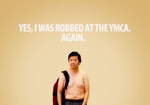 Text - YES, I WAS ROBBED AT THE YMCA. AGAIN.