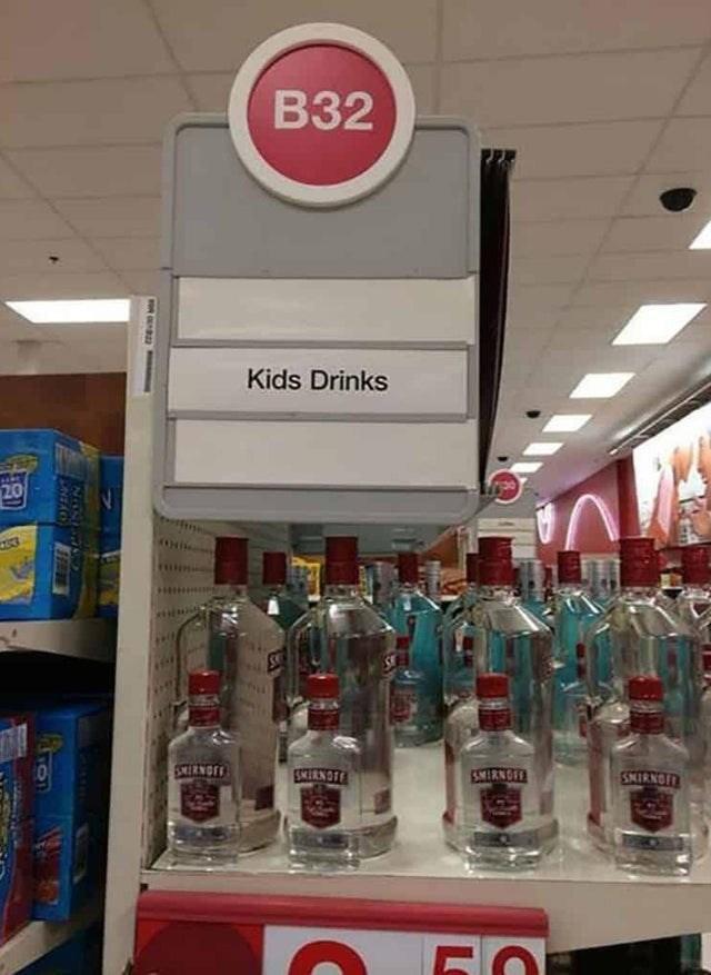 Product - B32 Kids Drinks 20 SMIRNOFE SKERNOTE SMIRNOFE SMIRNOI LO