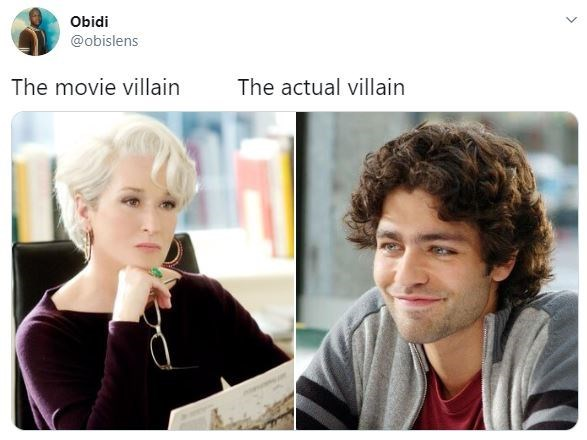 Hair - Obidi @obislens The movie villain The actual villain