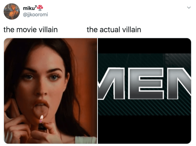 Face - miku? @jkooromi the movie villain the actual villain MEN