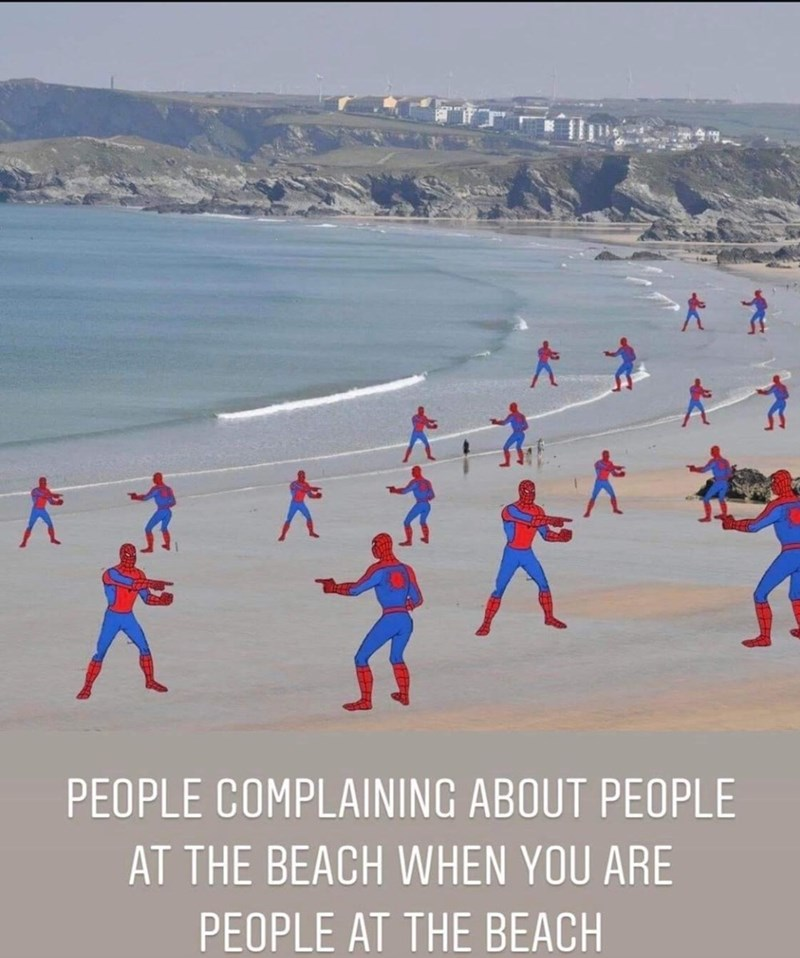 Recreation - PEOPLE COMPLAINING ABOUT PEOPLE AT THE BEACH WHEN YOU ARE PEOPLE AT THE BEACH