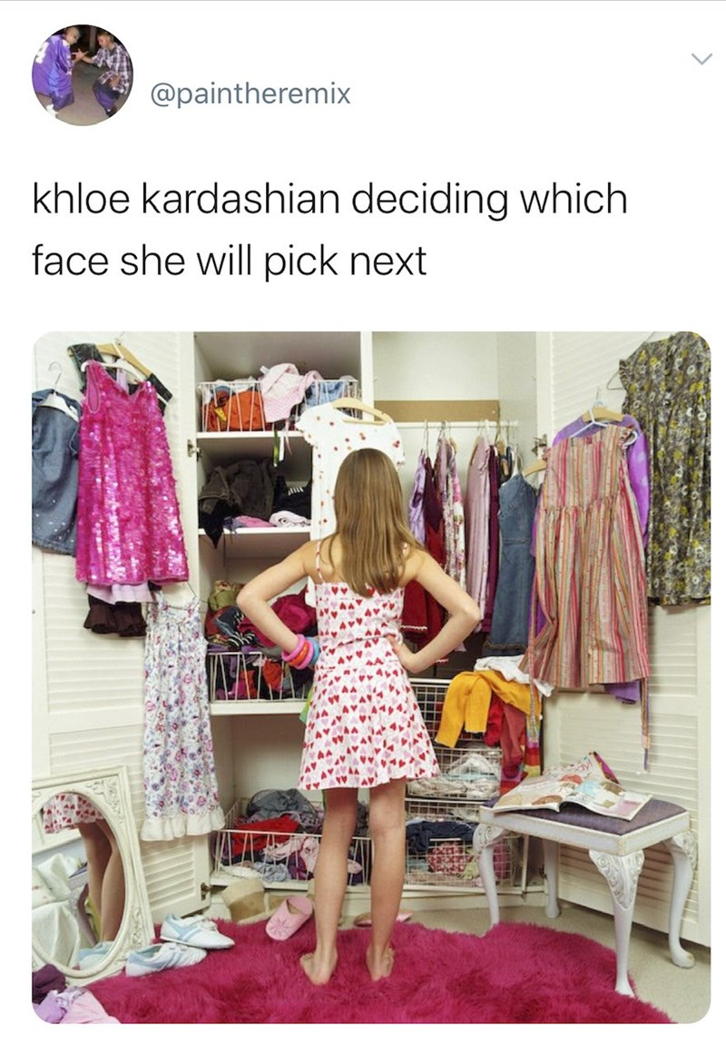 Room - @paintheremix khloe kardashian deciding which face she will pick next >
