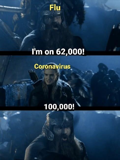 Sky - Flu I'm on 62,000! Coronavirus 100,000!