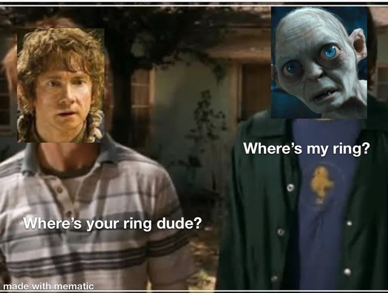 Movie - Where's my ring? Where's your ring dude? made with mematic