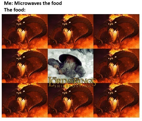 Art - Me: Microwaves the food The food: ORDSIRINGS USHIEOSTING