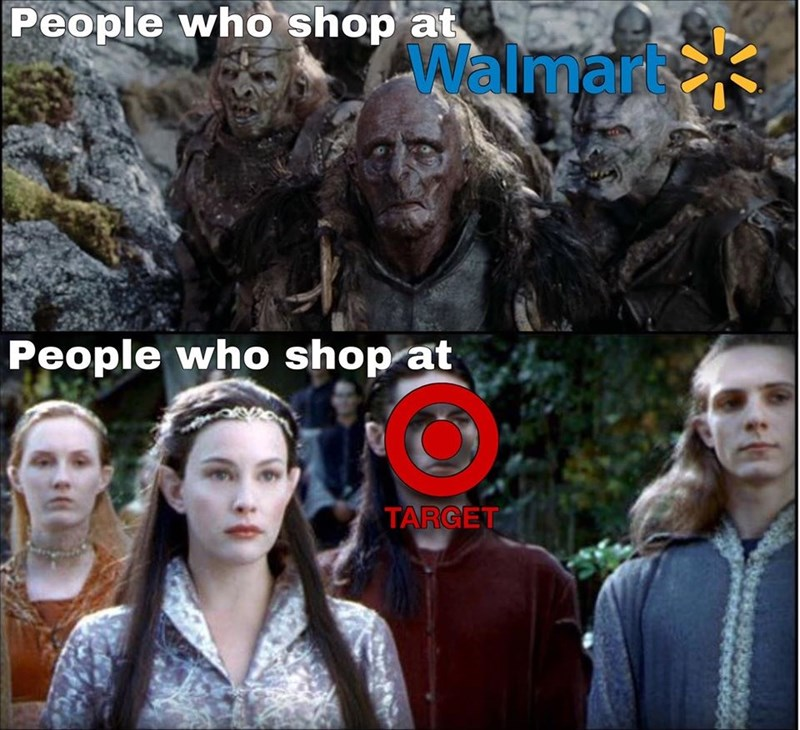 Fictional character - People who shop at Walmar People who shop at TARGET