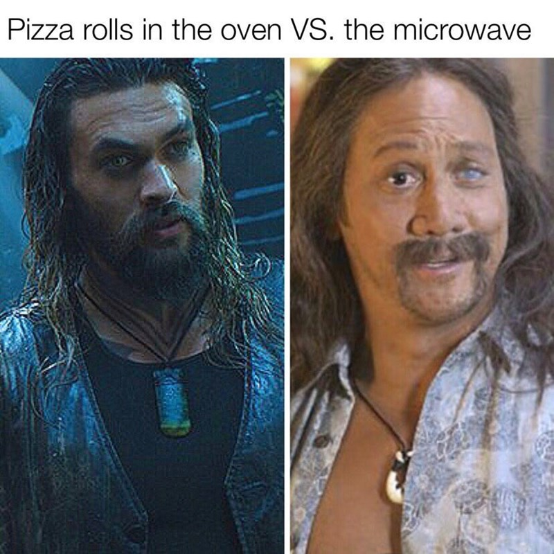 Hair - Pizza rolls in the oven VS. the microwave