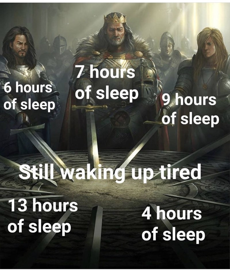 Sky - 6 hours of sleep 7 hours of sleep 9 hours of sleep Still waking up tired 13 hours 4 hours of sleep of sleep
