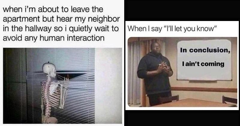 Funny memes for introverted or antisocial people