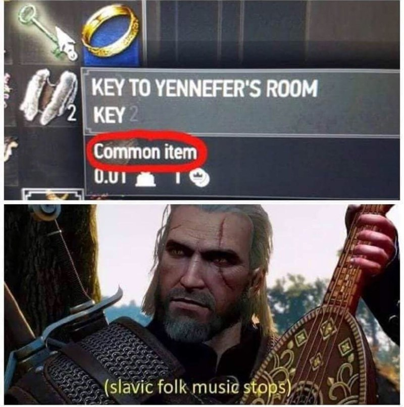 Fictional character - KEY TO YENNEFER'S ROOM 2 KEY 2 Common item 0.UI (slavic folk musie stops)
