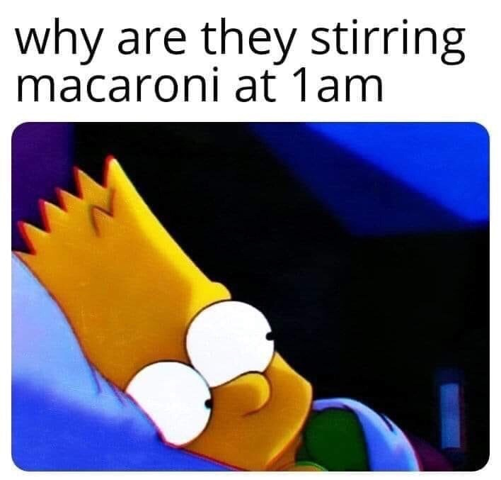 Operating system - why are they stirring macaroni at 1am