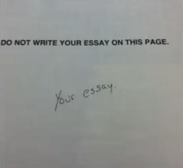 Text - DO NOT WRITE YOUR ESSAY ON THIS PAGE. Your essay.