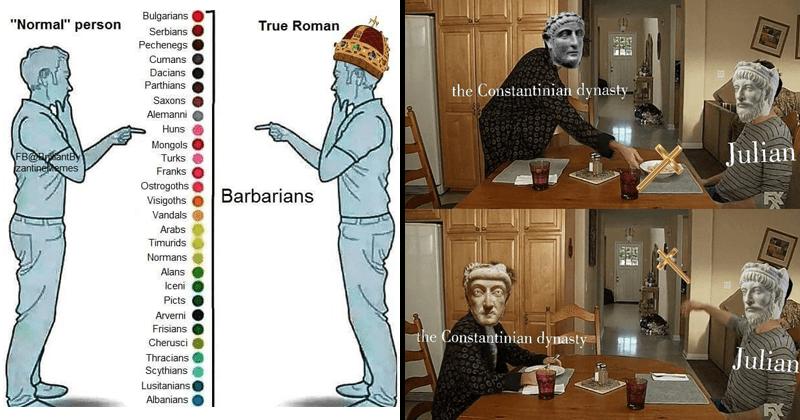 Ancient roman memes, history memes, funny memes.
