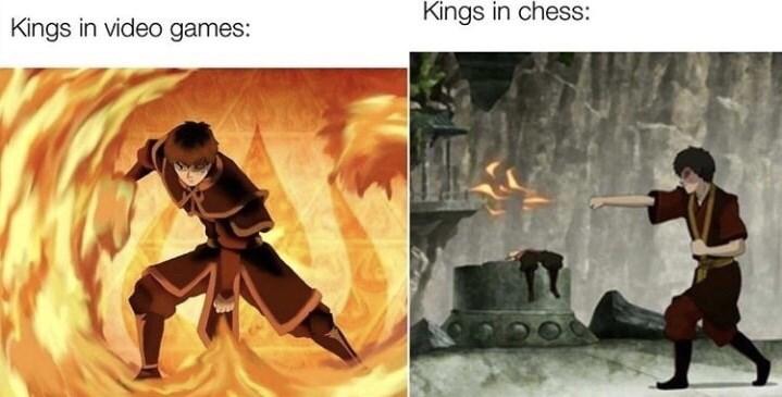 Kung fu - Kings in chess: Kings in video games:
