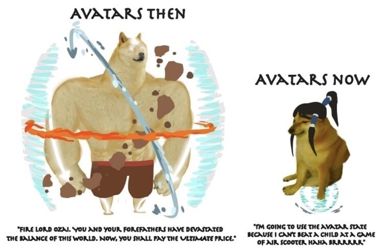 """Canidae - AVATARS THEN AVATARS NOw """"TM GOING TO USE THE AVATAR STTE BECAUSE I CANT BEATA CHILD AT A CAME OF AIR SCOOTER HAHA BRRRRRA """"FIRE LORD OZA. YOU AND YOUR FOREFATHERS HAVE DEVASTATED THE BALANCE OF THIS WORLD. NOW, You SHALL PAY THE ULTIMATE PRICE"""