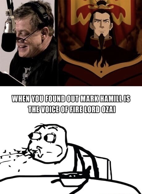 Cartoon - stan WHEN YOU FOUND OUT MARK HAMILL IS THE VOICE OF FIRE LORD OZAI