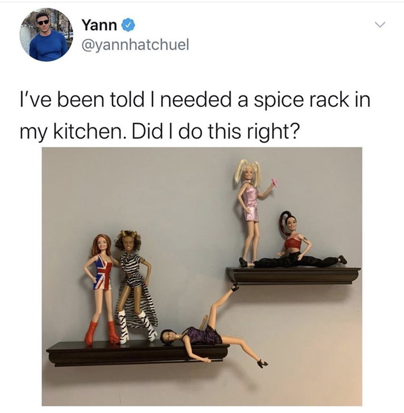 Text - Yann @yannhatchuel I've been toldI needed a spice rack in my kitchen. Did I do this right?