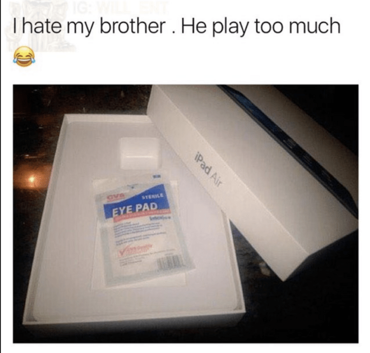 Product - Thate my brother . He play too much CVB STERILE EYE PAD iPad Air