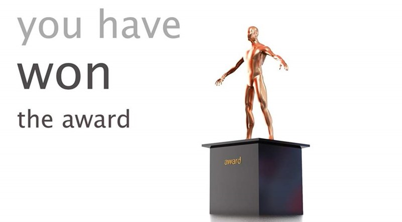 Product - you have won the award award
