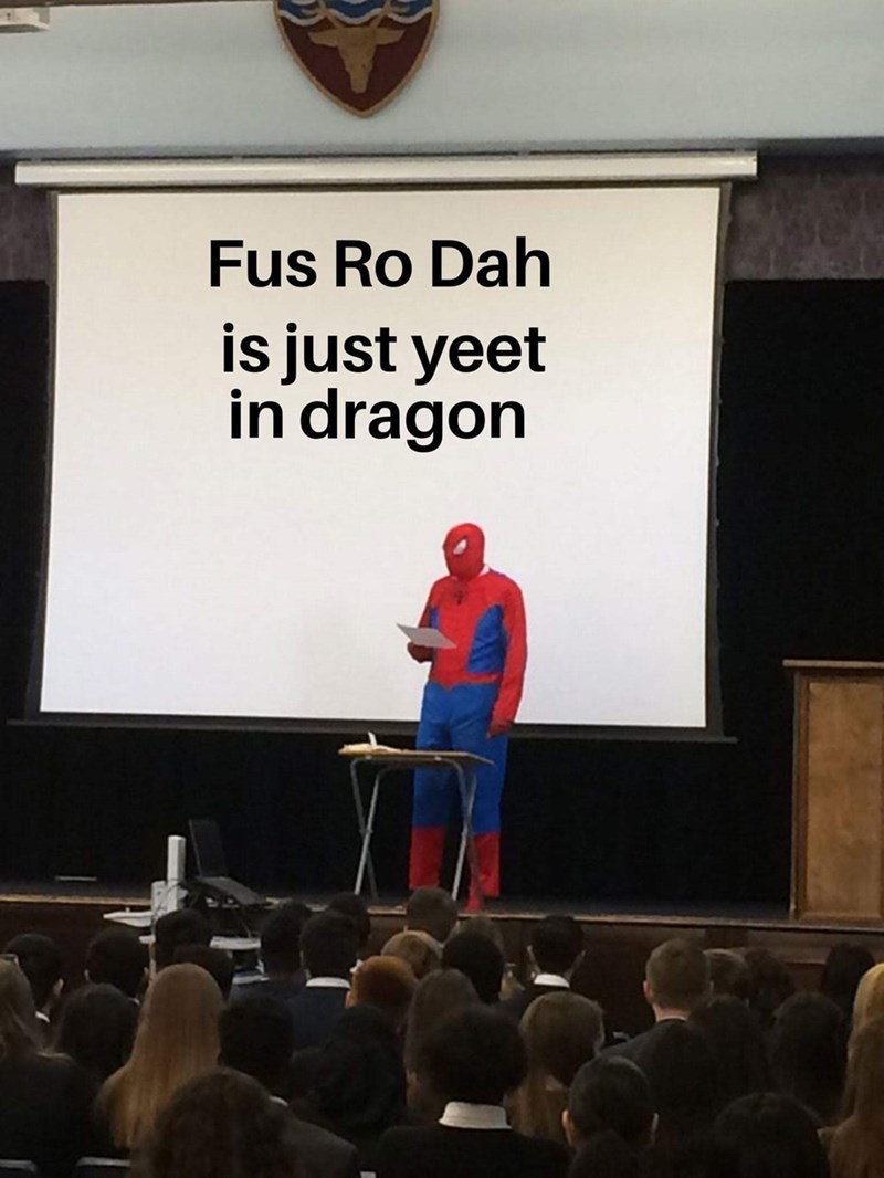 Text - Fus Ro Dah is just yeet in dragon