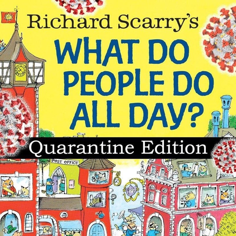 Art - Richard Scarry's WHAT DO PEOPLE DO ALL DAY? Quarantine Edition POST OFFICE