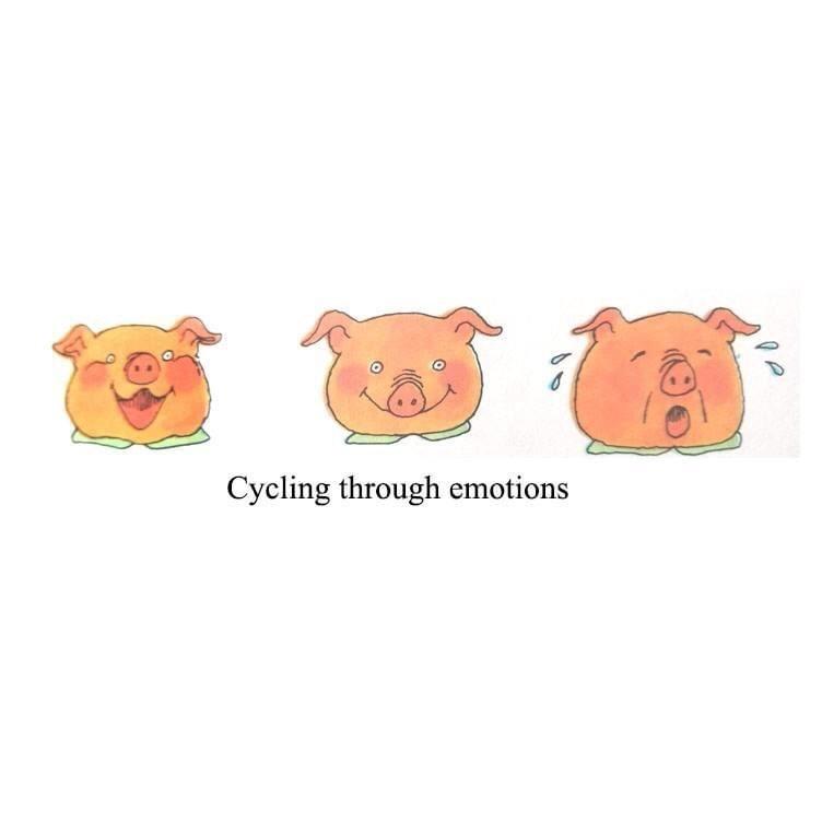 Cartoon - Cycling through emotions