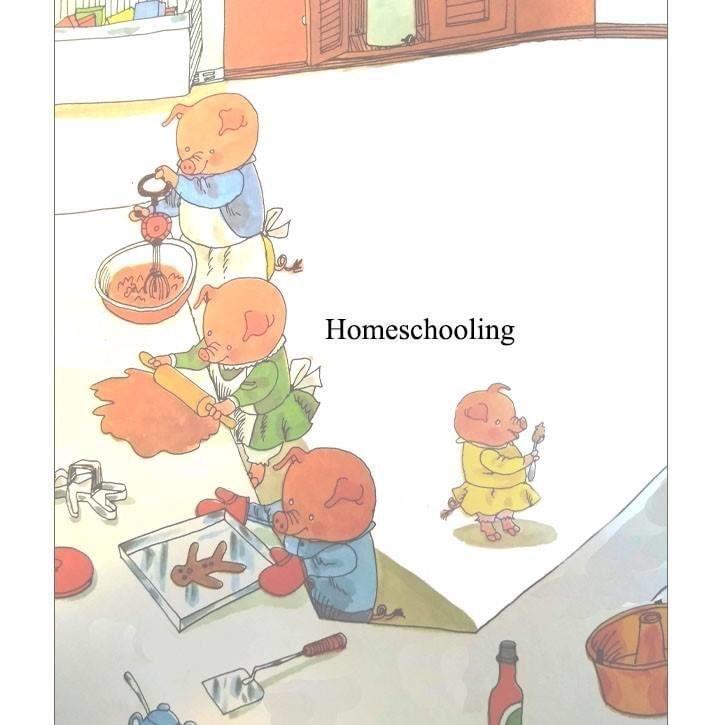 Cartoon - Homeschooling