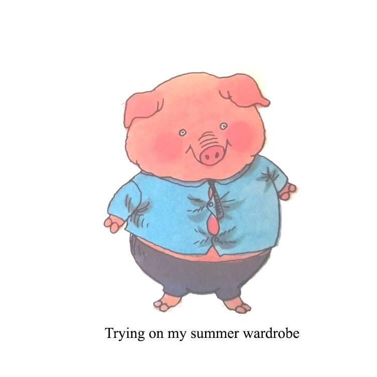 Cartoon - Trying on my summer wardrobe