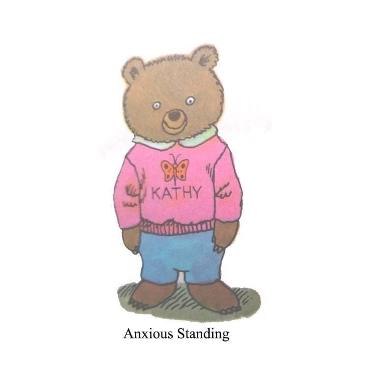 Teddy bear - KATHY Anxious Standing