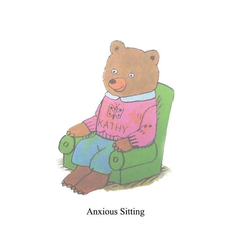 Cartoon - KATHY Anxious Sitting