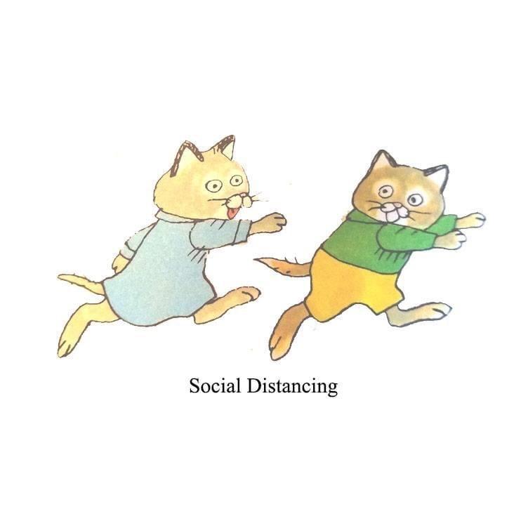 Cartoon - Social Distancing