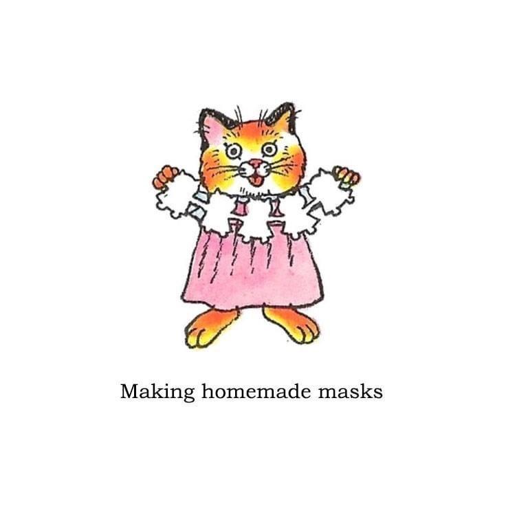 Cartoon - Making homemade masks