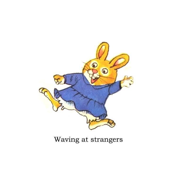 Cartoon - Waving at strangers