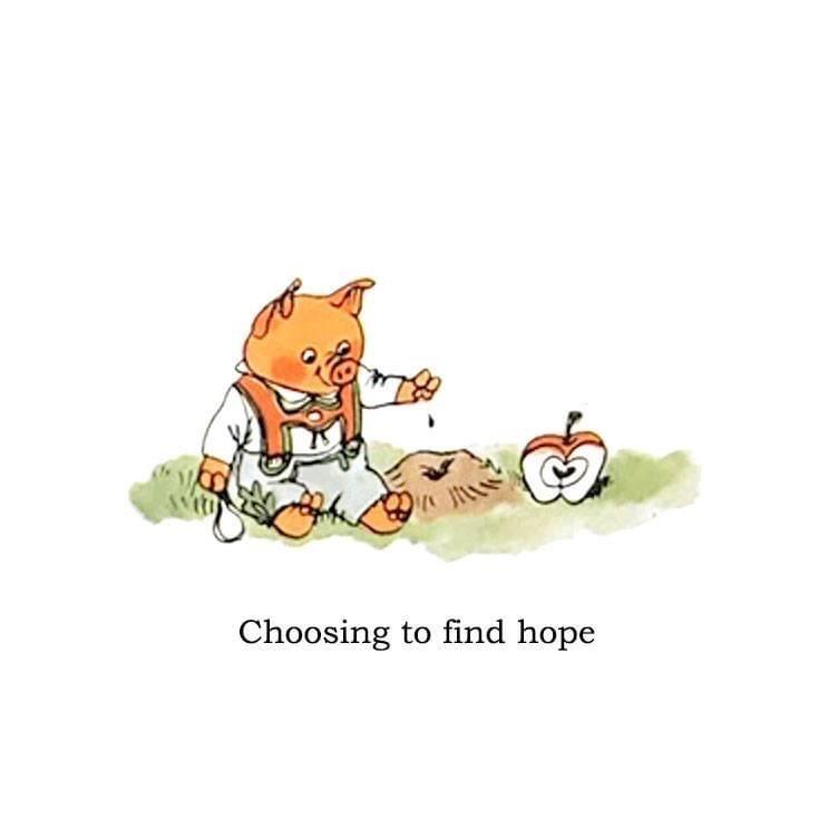 Cartoon - Choosing to find hope