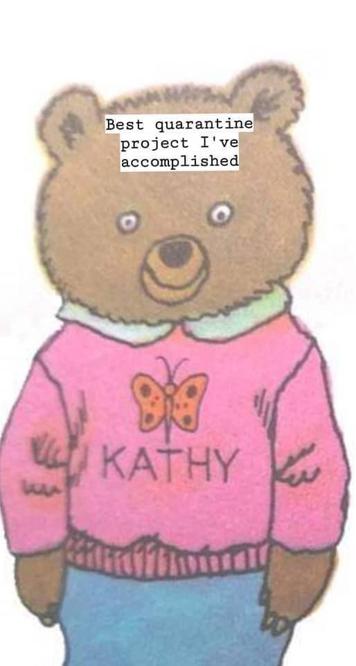 Teddy bear - Best quarantine project I've accomplished a KATHY КАTHY