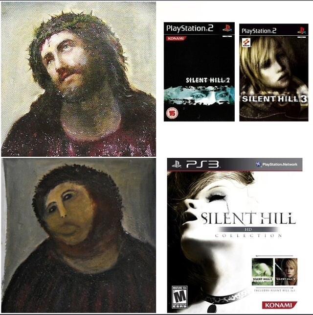 Text - PlayStation.2 & PlayStation.2 KONAMI SILENT HILL 2 SILENT HILL3 B PS3. * PlayStation.Network SILENT HIL HD COLLECTION SISANT HELL INT 3 MATURE U INCLUDEE SILENT HILL M KONAMI EORB