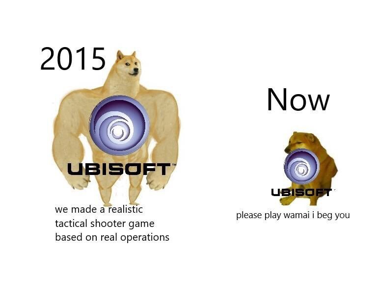 Auto part - 2015 Now UBISOFT UBISOFT we made a realistic tactical shooter game based on real operations please play wamai i beg you