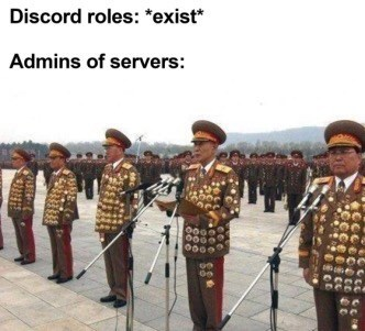 Uniform - Discord roles: *exist* Admins of servers: