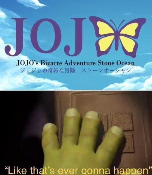 """Finger - JOJEO JOJO's Bizarre Adventure Stone Ocean ジョジョの奇妙な冒険 ストーンオーシャン """"Like that's ever gonna happen"""""""