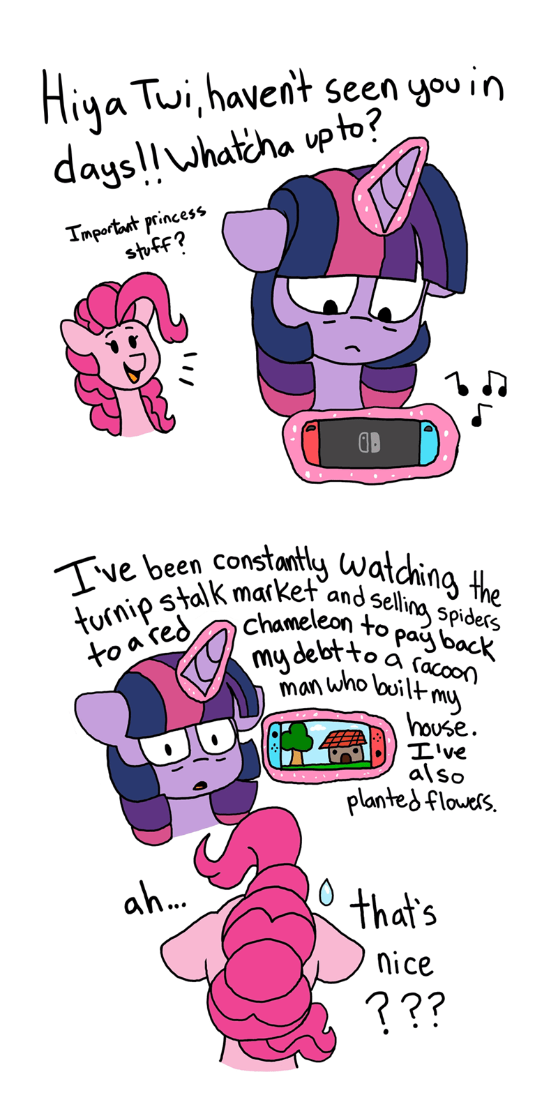 pink-pone twilight sparkle pinkie pie animal crossing - 9492775680